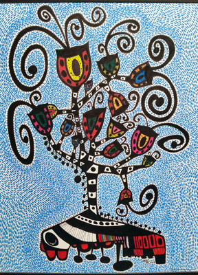 Tree of Life-Azul © 2014 Sandra Pérez-Ramos (Inks).