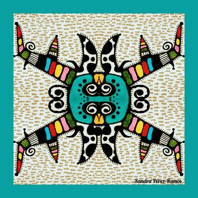 Máscara Equis. Digital, mixed media. Sandra Pérez-Ramos.