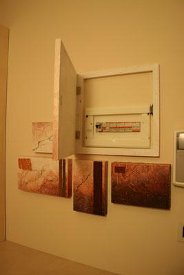 quadro in carta froissè copri quadro elettrico