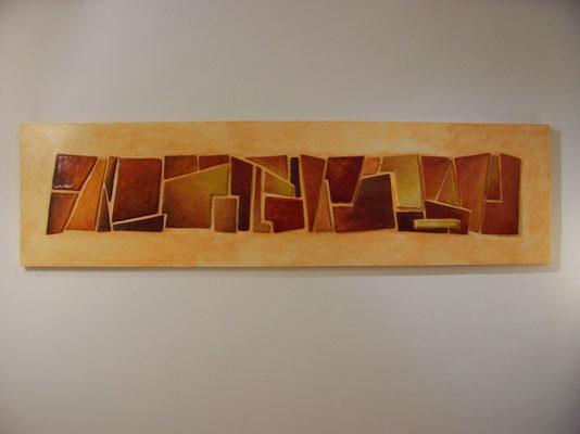 quadro in cartapesta su legno