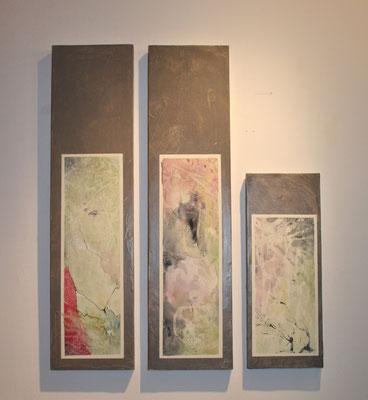 acquerello su  legno e cartapesta