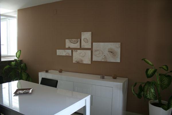 quadro orologio in legno e cartapesta