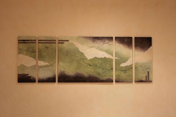 quadro in cartapesta e legno