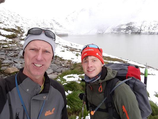 beim Start vom Oberaarsee zur Oberaarjochhütte