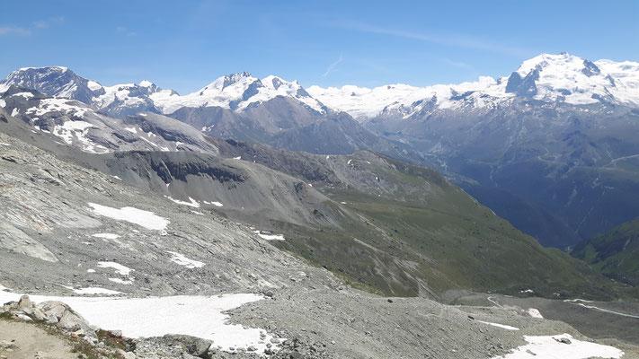 Blick von Rothornhütte - Alphubel-Dufour-3298m