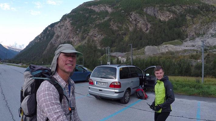 Ausgangspunkt Randa – Parkplatz