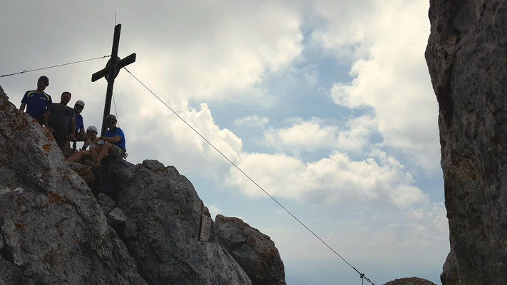 Auf dem höchsten Gipfel des Kaisergebirge, dem Ellmauer Halt - Geschafft!