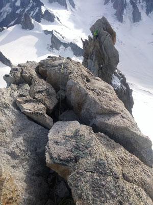 Blick vom Gipfel zu Torsten