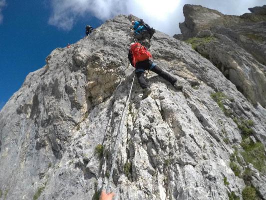 Klettersteig Köllenspitze : Tannheimer berge hahnenkamm rote flüh und köllenspitze