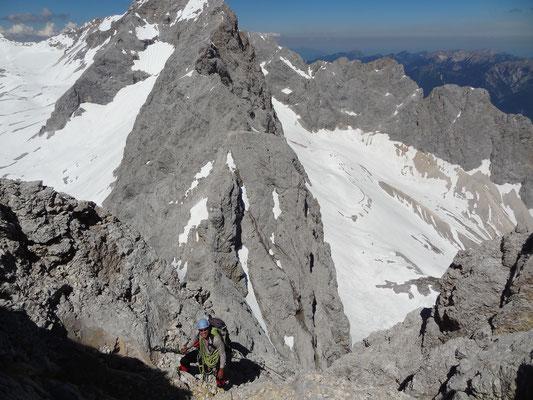 Torsten im Aufstieg zur Inneren Höllentalspitze