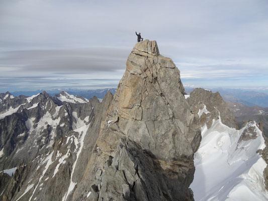 6 und letzte Seillänge zum Gipfel