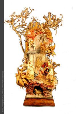 Presepio in sughero con pastori in terracotta e stoffa_Luigi del Prete (Fratamaggiore-Na)
