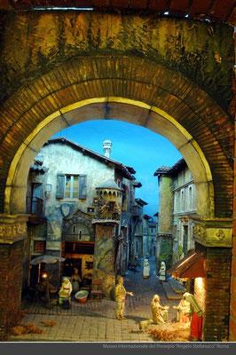 Natività ambientata nella roma ottocentesca_Adriano Scataglini e Renato attia_statue di Antonio Mazzeo
