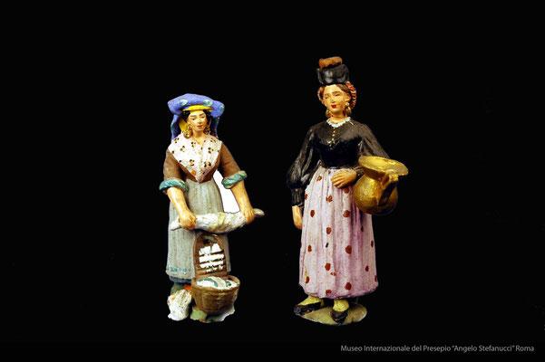 figure popolari in costume abruzzese (prima metà 900)_Giuseppe Avolio_Pacentro (AQ)