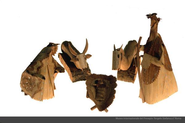 figure presepiali in foglie di granoturco_efisio Serra (Oristano)