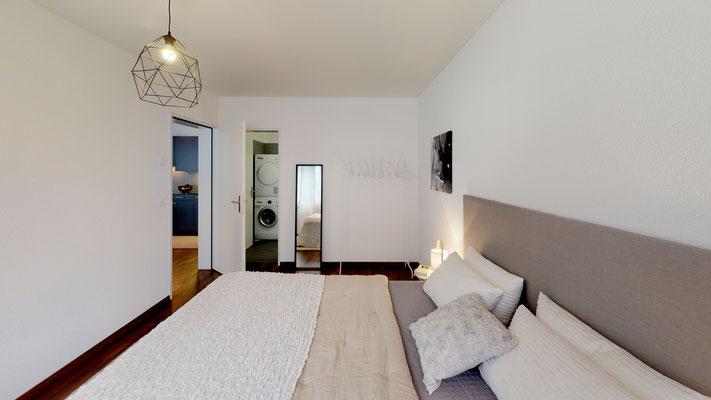 Zimmer mit Bad en Suite, alle Wohnungen mit zwei Badezimmern
