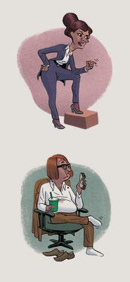 Character-Design - Thema: Meeting-Typen - Kunde: Allianz Mitarbeitermagazin