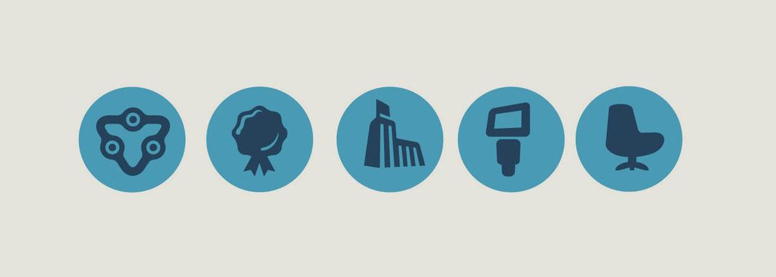 Icons für interne Firmenabläufe - affiliated Marketing - Kunde: Affilinet