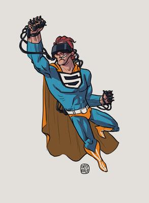 Character-Design - Thema: Superhelden mit Behinderung (Blind/ Virtual Reality) - Kunde: Aktion Mensch