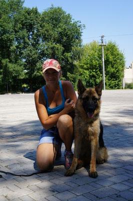 Голубицкая Елена с юной чемпионкой Донбасса- Феррари Штольц Фатерланд