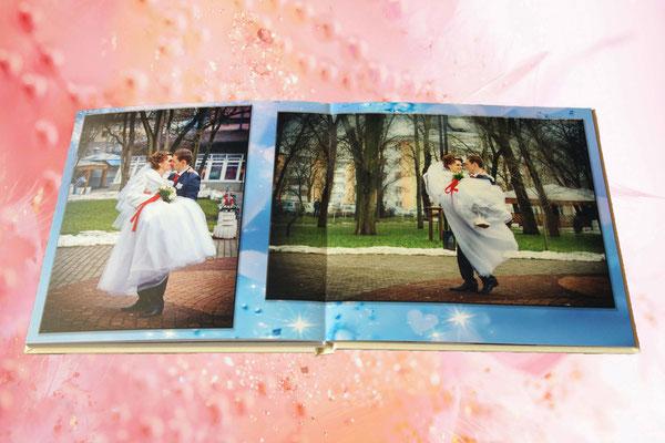 классическая свадебная фотокнига - дизайн и печать в Харькове