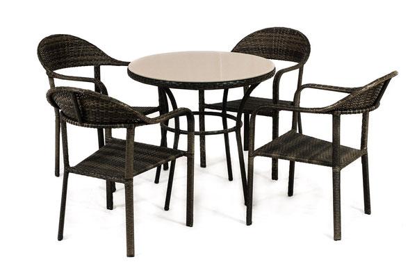 набор плетеной мебели- стулья и стол