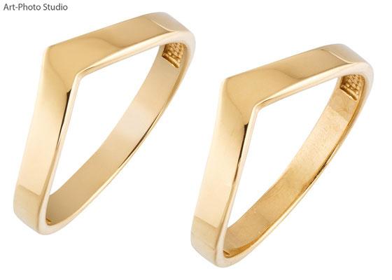 серебряное кольцо с позолотой - до и после ретуши