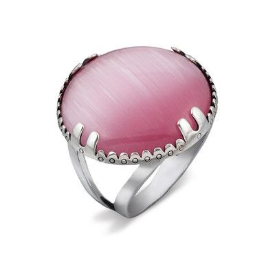 предметное фото ювелирных изделий - серебряное кольцо