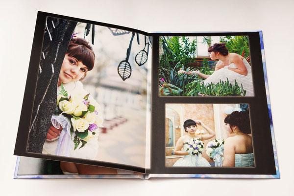 разворот свадебной фотокниги - заказ дизайна и печати