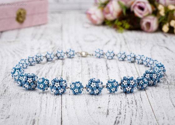 ожерелье из полу-драгоценных камней HandMade