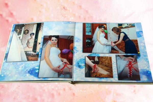 разворот свадебной фотокниги - заказ в Харькове