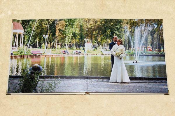 разворот свадебной фотокниги - заказ дизайна и печати в Харькове по тел. 0503029168