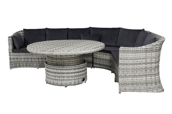 набор плетеной мебели- диван и стол