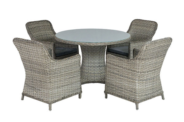 фото набора плетеной мебели