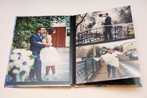 фото свадебной пары в фотокниге