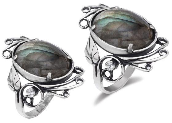 ретушь ювелирных украшений с драгоценными камнями