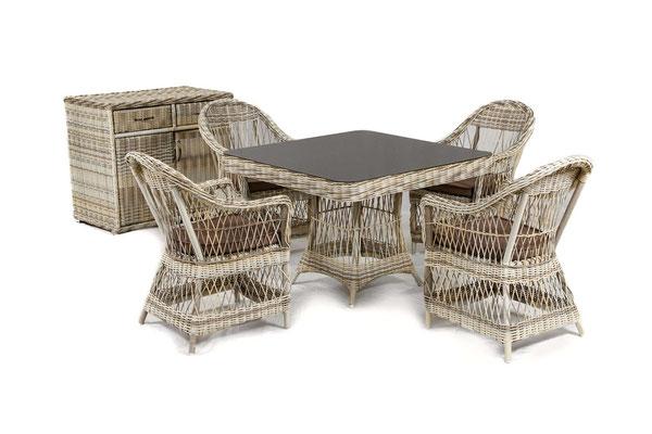 набор плетеной мебели для дачного участка