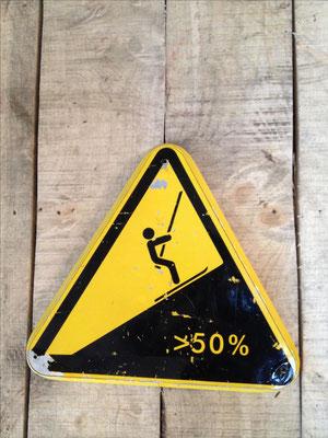Panneau ski vintage altipic ref 017 avec pied + embase acier RESERVE
