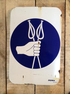 Panneau ski vintage altipic ref 013  2 exemplaires avec pied + embase acier