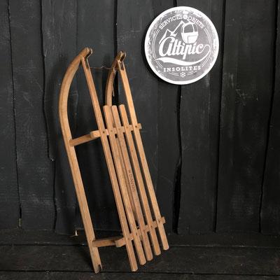 luge bois vintage altipic ref018 RESERVE