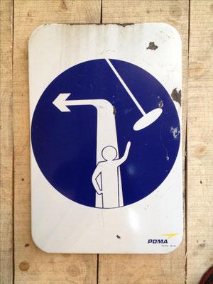 Panneau ski vintage altipic ref 043 avec pied + embase acier RESERVE