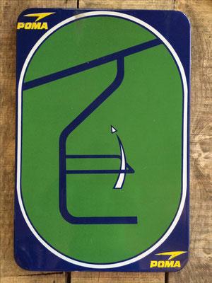 Panneau ski vintage altipic ref 028 avec pied + embase acier  2 exemplaires  1 RESERVE