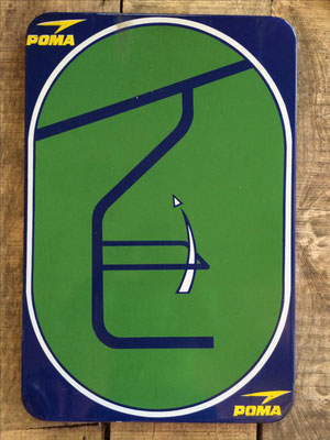 Panneau ski vintage altipic ref 028 avec pied + embase acier  2 exemplaires
