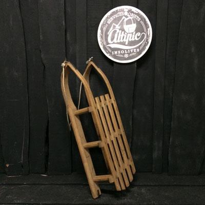 luge bois vintage altipic ref007 réservé