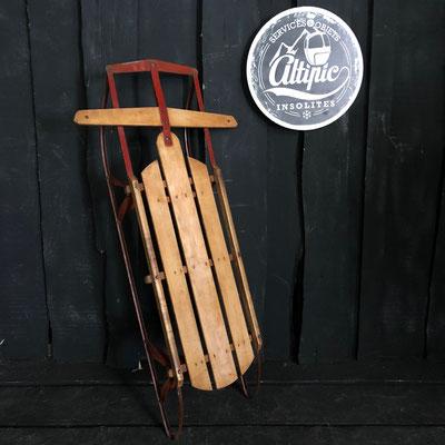 luge bois vintage altipic ref015