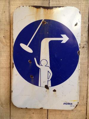 Panneau ski vintage altipic ref 044