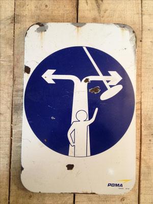 Panneau ski vintage altipic ref 042 avec pied + embase acier