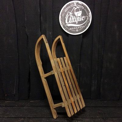 luge bois vintage altipic ref009 réservé