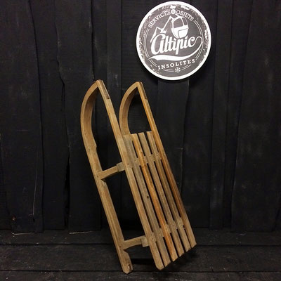 luge bois vintage altipic ref009