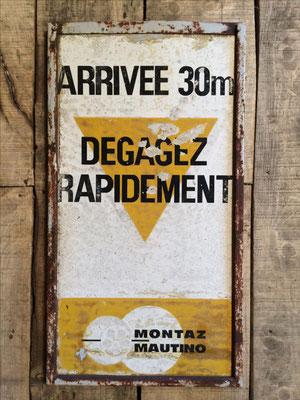 Panneau ski vintage altipic ref 025 avec pied + embase acier